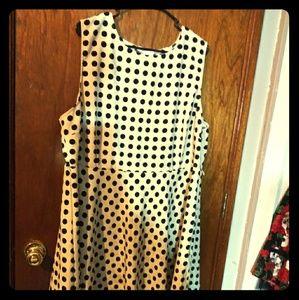Polka dot plus size dress
